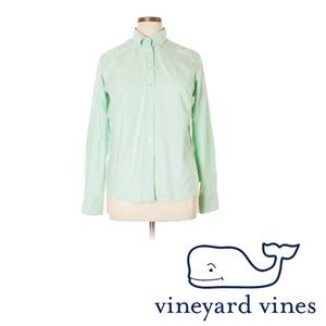 VINEYARD VINES PALE GREEN BUTTON DOWN LONG SLEEVE